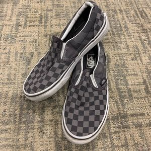 Vans Two Tone Grey Check Camo Slip On Size 2.5